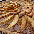 Tarte aux pommes et  la vergeoise