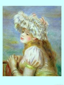 82327~Portrait-of-a-Young-Woman-in-a-Lace-Hat-1891-Affiches