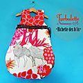 Turbulette / giGoteuse Naissance Originale et chic acidulée fluo rose orange - froufrou pois