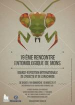 Affiche 19em rencontre entomologique de Mons 2017