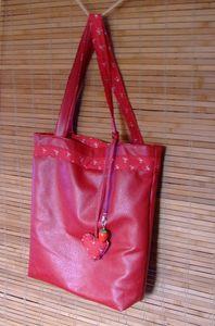 sac cuir rouge 1