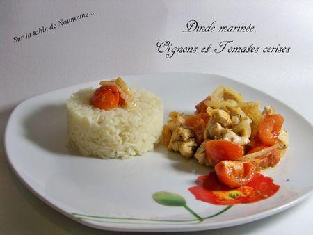 Dinde marinée oignons et tomates cerises 2