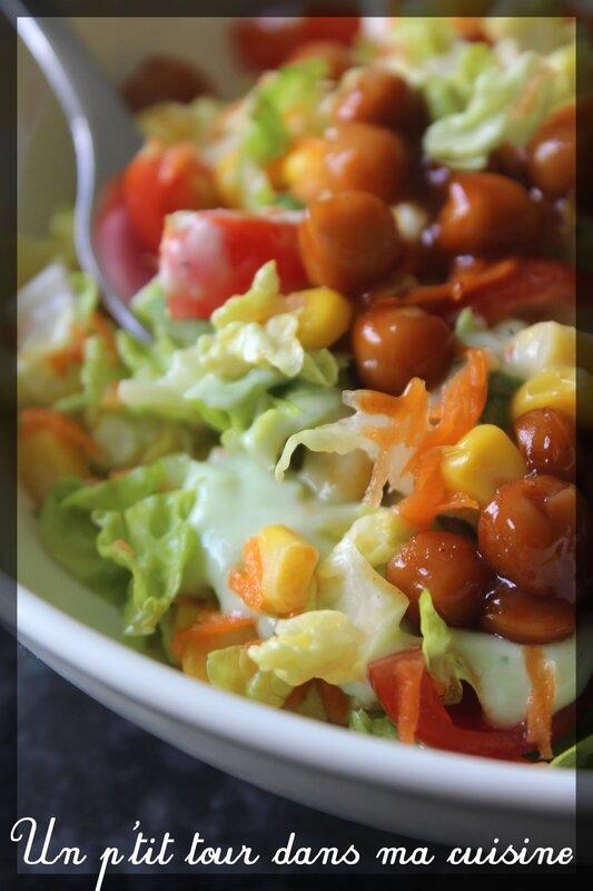Salade pois chiches vinaigrette ranch1