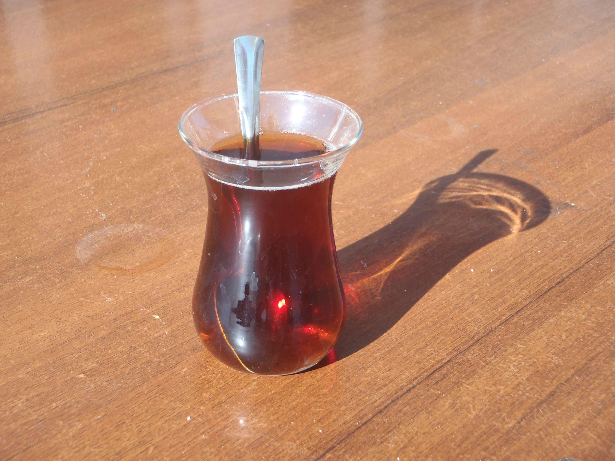 turquie : station service - service à thé