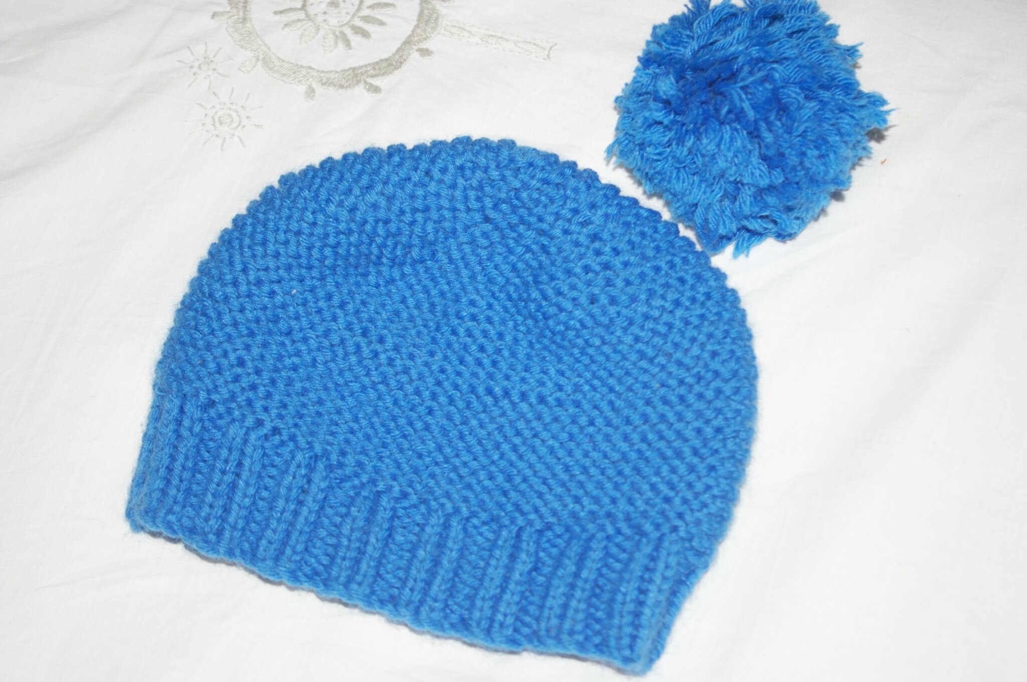 tuto tricot bonnet bebe point mousse