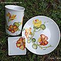 Peinture florale sur porcelaine
