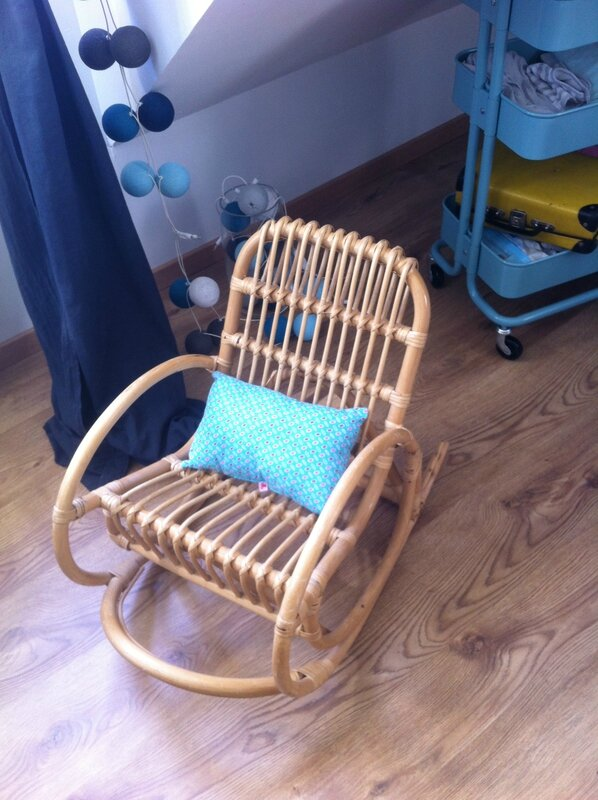 Fauteuil Bascule Rotin Enfant Lilly Broc