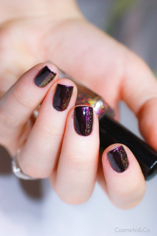 nail art FUN Lacquer Celebrate H Bourjois Prune Stellaire-2