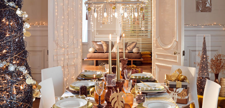 D coration et ambiance de no l dor une very stylish for Table de noel chic