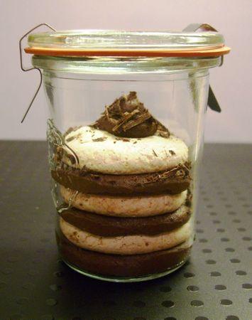 bûche meringuée au chocolat
