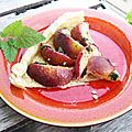 Tarte fine aux nectarines et
