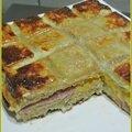 Croque tablette jambon et cheddar