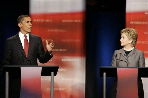 Barack Obama et Hilary Rodham Clinton
