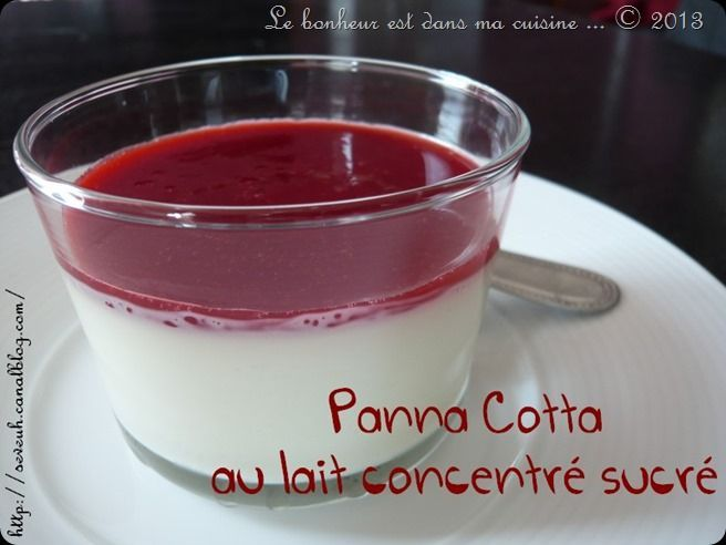 Panna cotta lait concentre