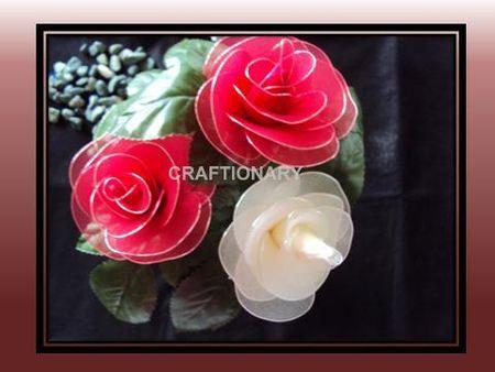 pantyhose_rose_stocking_net_red_white_flower_craft