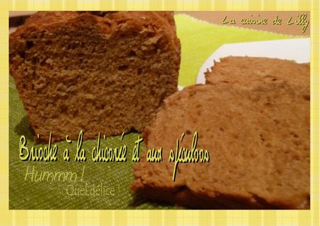 Brioche  la chicore et aux spculoos