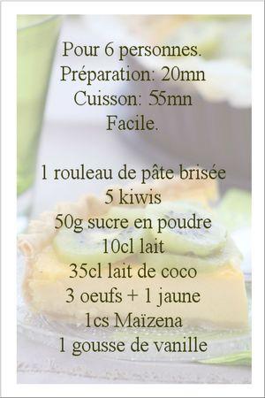 recette quiche kiwis