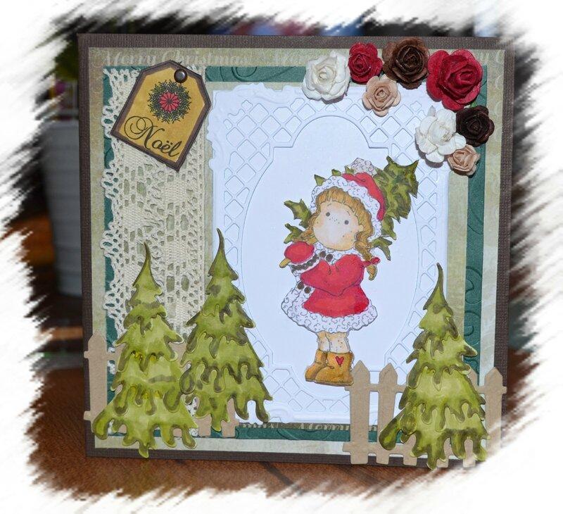 carte de Noël magnolia
