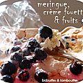°blanc d'oeuf, crème & fruits noirs°