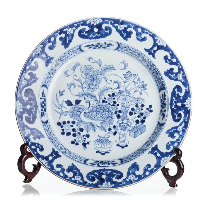 "Blue and white ""duck"" plate, China, 17-18th Century, Kangxi period"