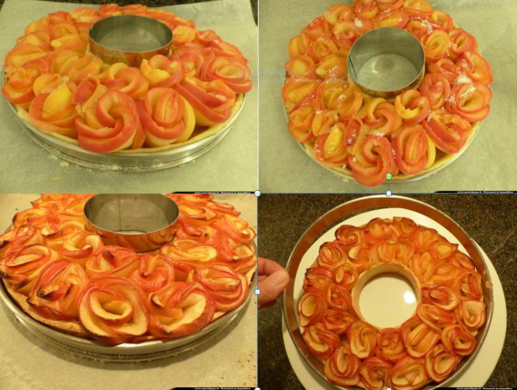 tarte bouquet de roses3