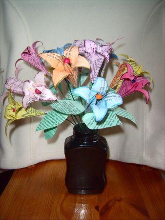 bouquet de fleurs en origami le monde de doris. Black Bedroom Furniture Sets. Home Design Ideas
