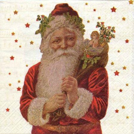 Serviette papier Père-Noël 2