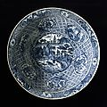Bowl with landscape, south china, late ming dynasty, about 1550-1644