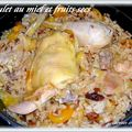 Poulet au miel et fruits secs