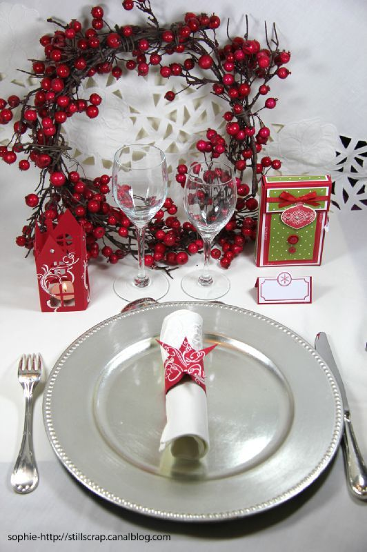 D co de no l et tuto still scrap de soph - Deco tables de noel ...