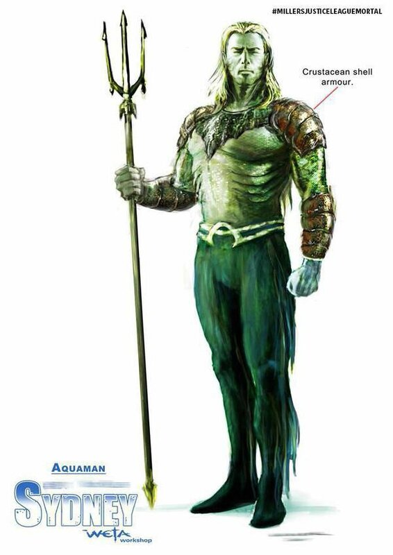 Justice League Miller (concept-art Aquaman)