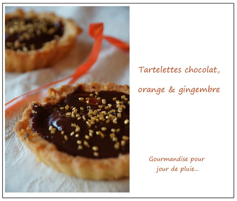 Tarte chocolat, orange et gingembre 2