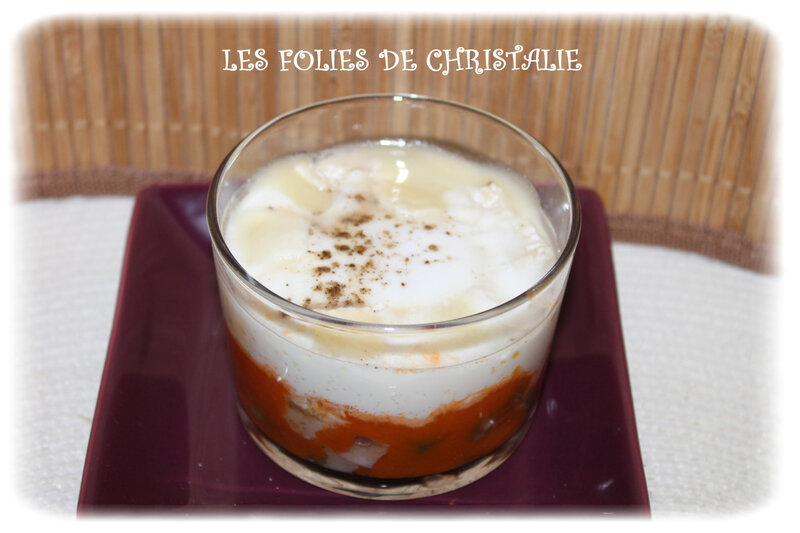 Oeuf cocotte haricots chèvre 2