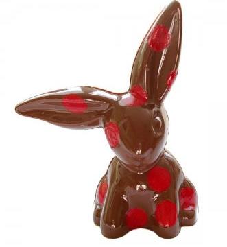 lapin-en-chocolat-à-pois
