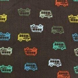 tissu-coton-autocar-marron-x-10cm