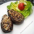 Aubergines farcies au roquefort (6pp/pers)