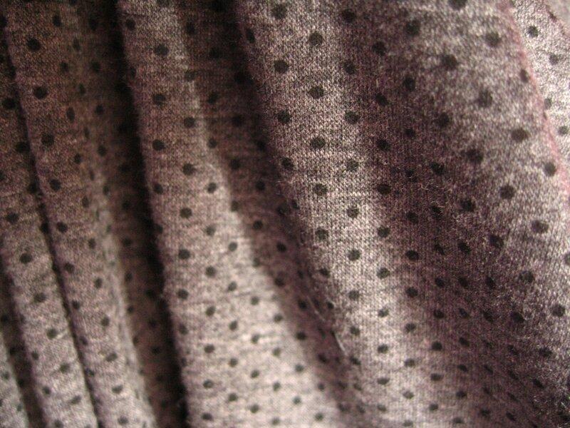 jersey coton gris pois noirs ...