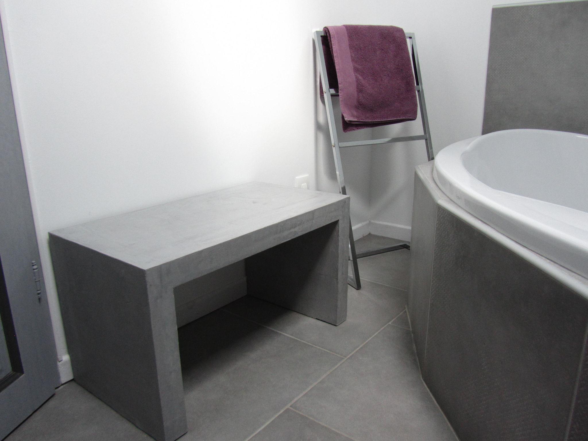 console grise photo de beton cire le mobilier catherine pendanx. Black Bedroom Furniture Sets. Home Design Ideas