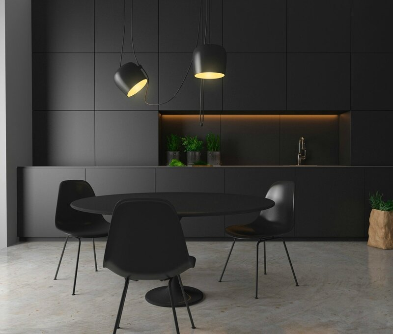 minimalist-black-kitchen