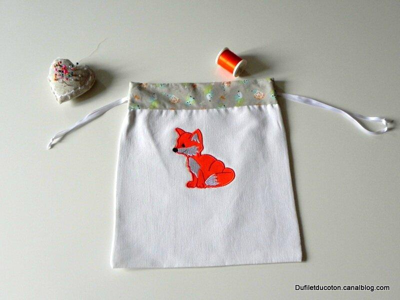 pochon renard à plat