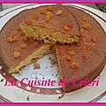 Gâteau à l'orange & abricots secs
