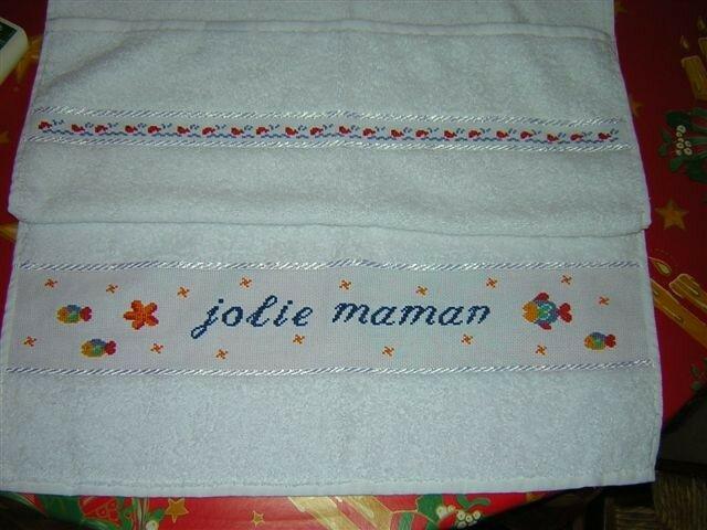 serviette pour jolie maman