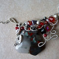 N°30 - collier rouge & gris