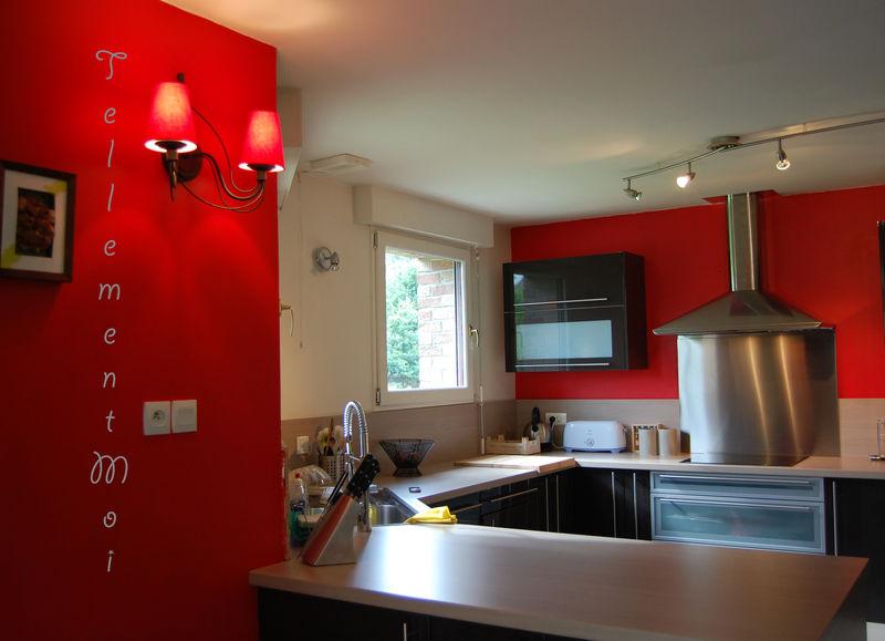 Peinture murale pour cuisine rouge 20170908004654 for Cuisine peinture rouge