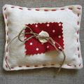 Petit coussin (11x9 cm) coton rempli de lavande