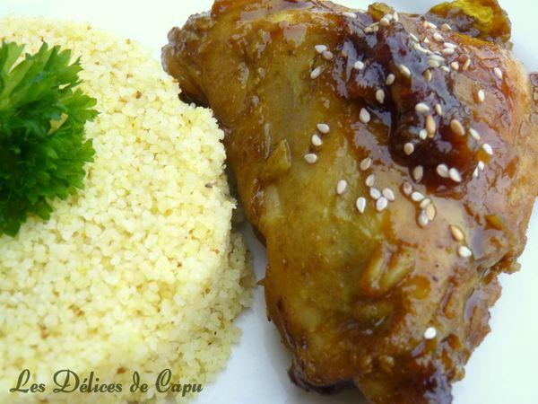 Poulet caramélisé miel et sauce soja1
