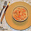 Coleslaw de carottes et radis noir