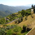 VUE SUR LA VALLEE DU HAUT VILLAGE DE BAIARDO ( 800 m )
