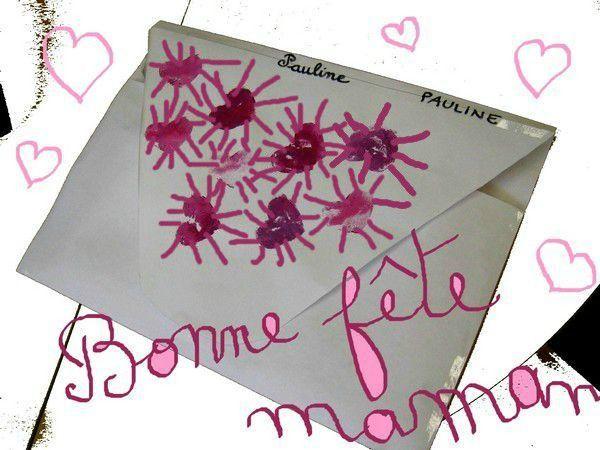 35-Fête des mères- Tableau pense-bête dans enveloppe