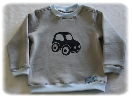 Ensemble voiture sweat 3
